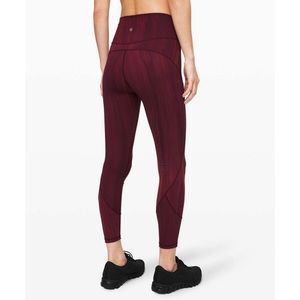"Lululemon In Movement Tight 25"" Everlux SZ 8"